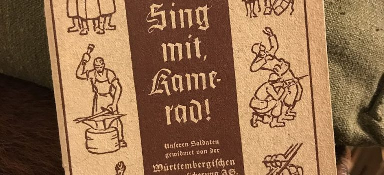 """Wartime German songbook """"Sing mit, Kamerad!"""""""