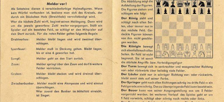 "WWII German board games – ""Melder Vor!"" and ""Stosstrupp greift an!"""